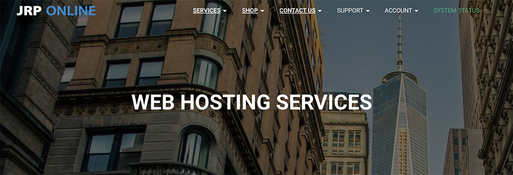 JRP ONLINE Web Hosting Leeds